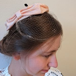 Vintage 40s/50s pink netted hairpiece or hat